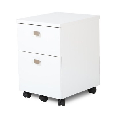 South S Furniture Interface Pure White 2 Drawer File Cabinet