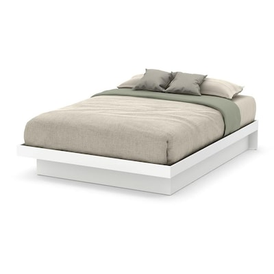 South S Furniture Basic Pure White Queen Platform Bed At