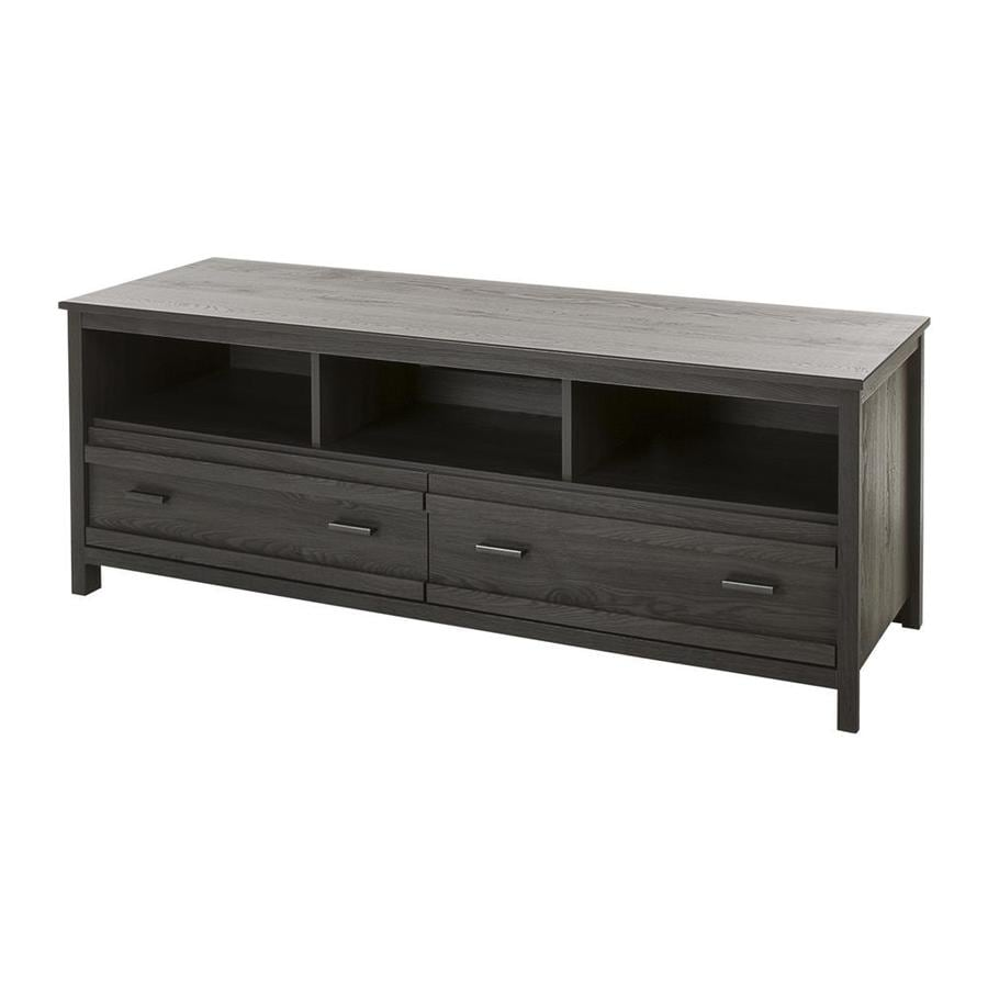 South Shore Furniture Exhibit Gray Oak Transitional Engineered Wood Media  Cabinet