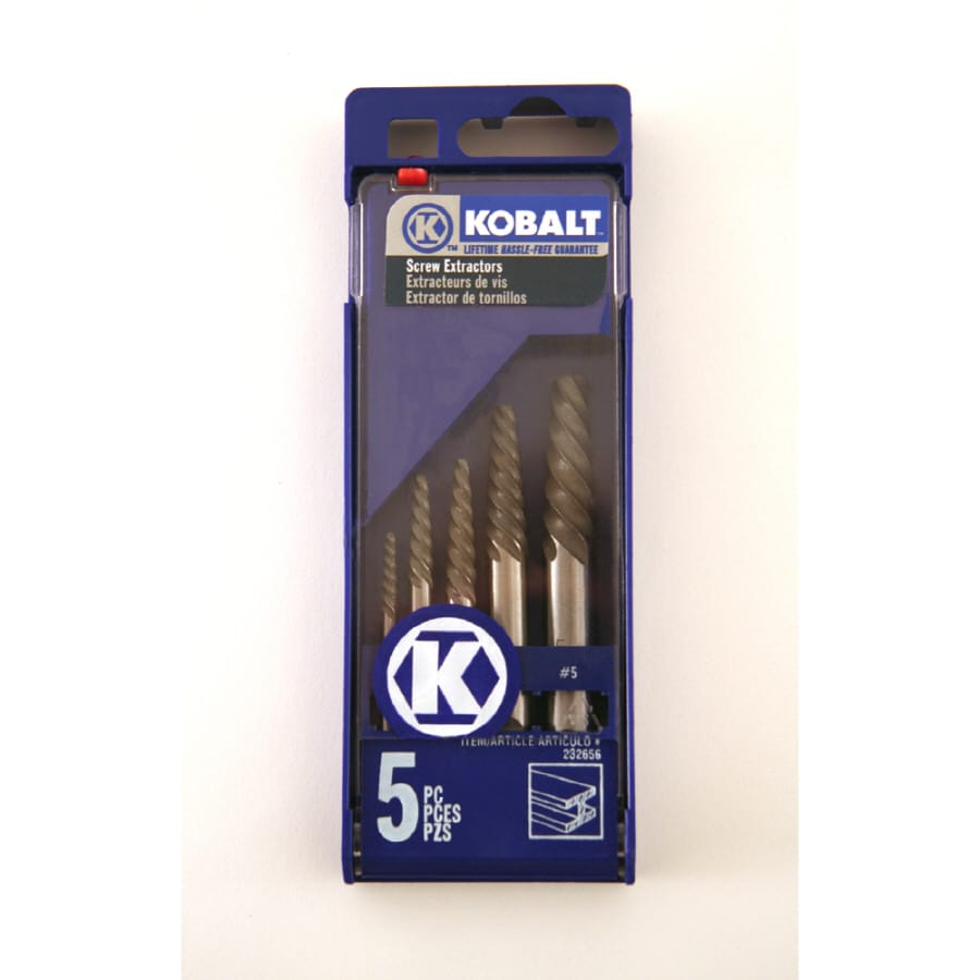 Kobalt Kobalt 5Pc Screw Extractor #1-#5