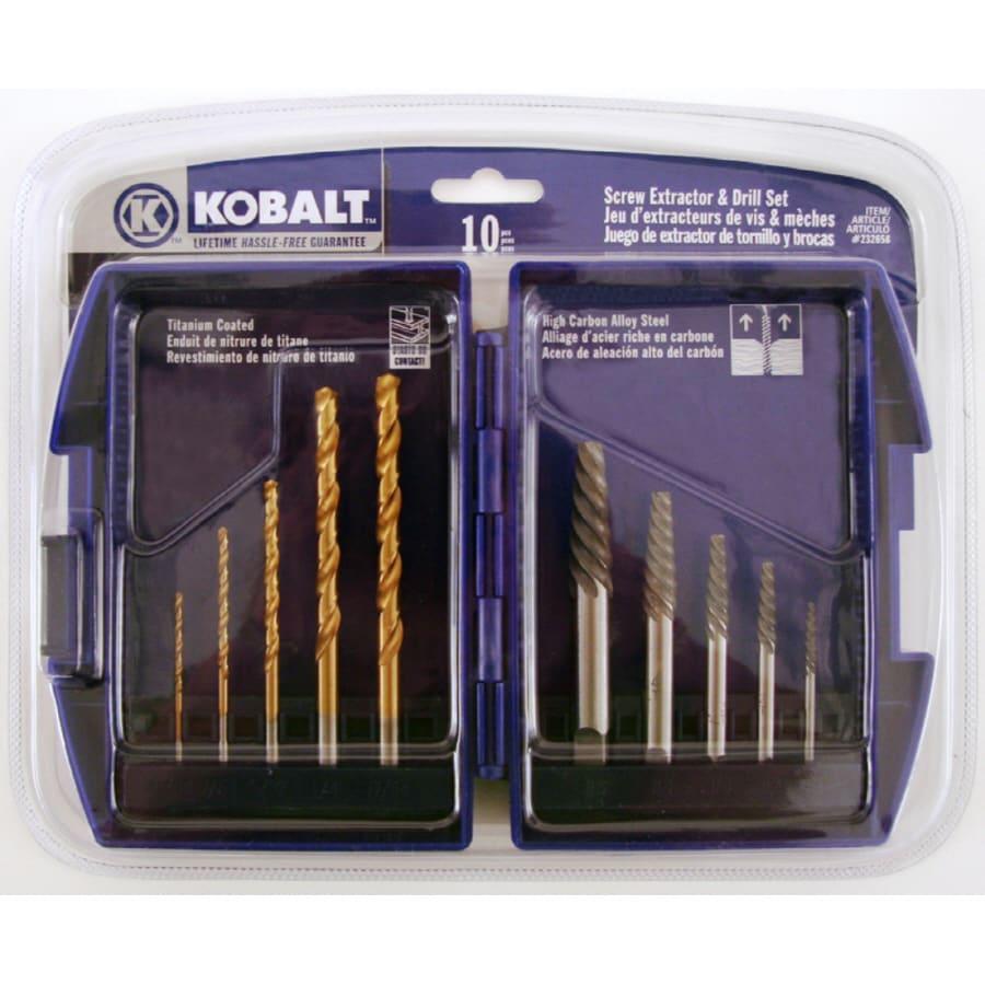 Kobalt Kobalt 10Pc Scr Extractor Drill Set