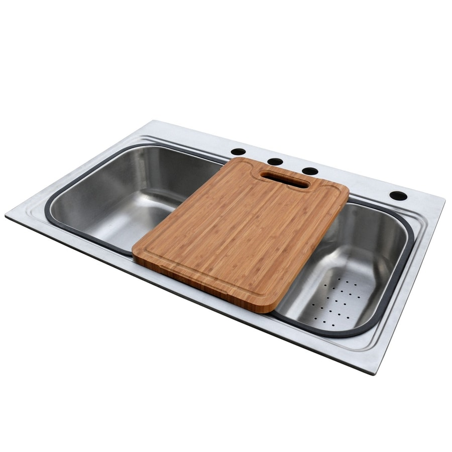 american standard single basin drop in stainless steel kitchen sink shop american standard single basin drop in stainless steel      rh   lowes com