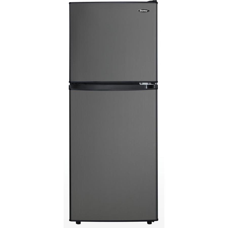 Danby 4.7-cu ft Freestanding Mini Fridge Freezer Compartment (Black Stainless Steel)