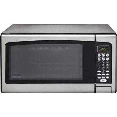 Designer 1 Cu Ft 1000 Watt Countertop Microwave Stainless Steel