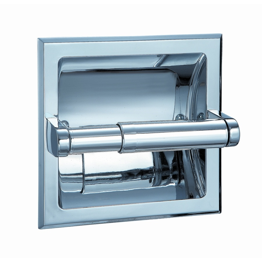 Shop Style Selections Seton Chrome Recessed Toilet Paper Holder at ...