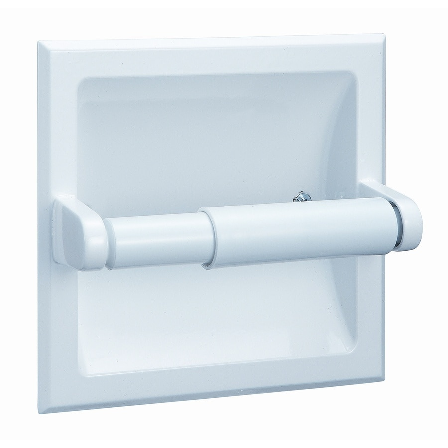 Style Selections Seton White Recessed Toilet Paper Holder