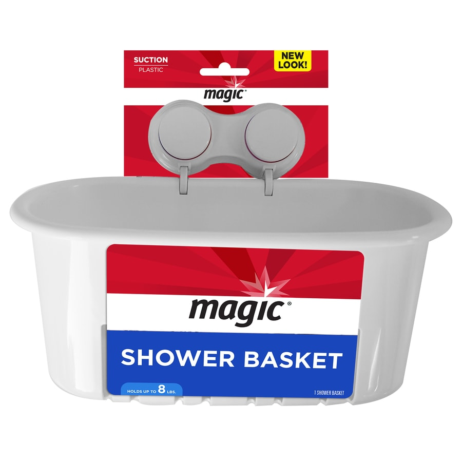 Magic White Plastic Bathtub Caddy