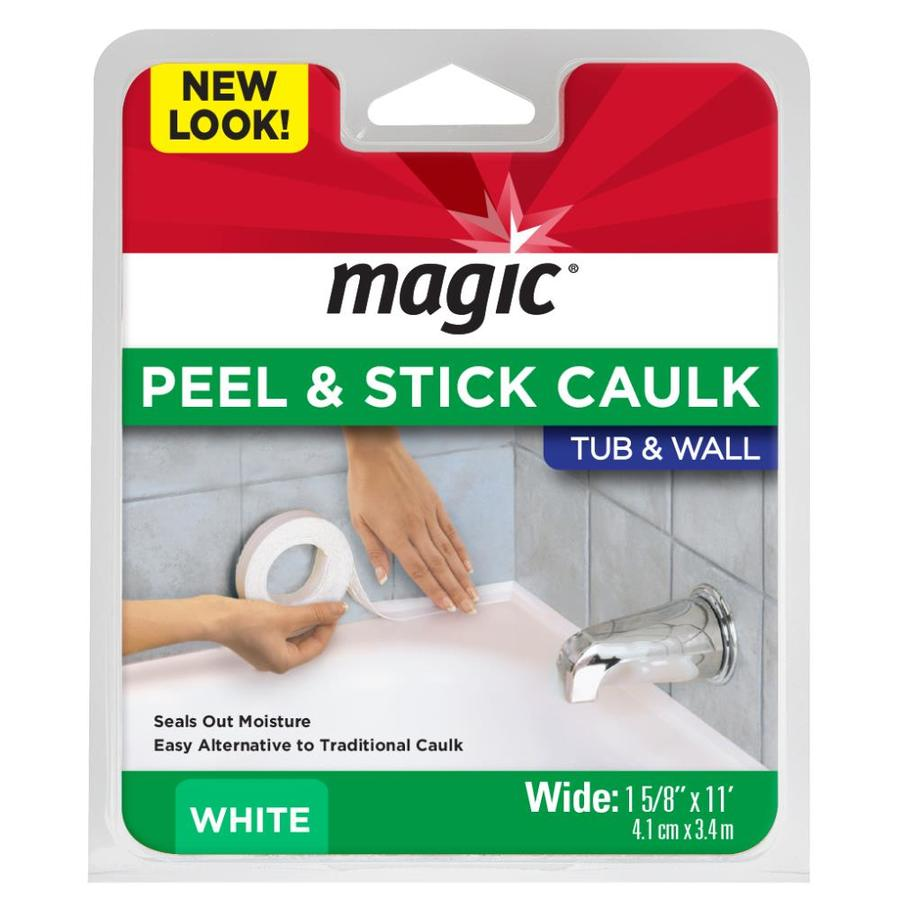 Magic White Tubs and Floors Bathtub Sealer Trim