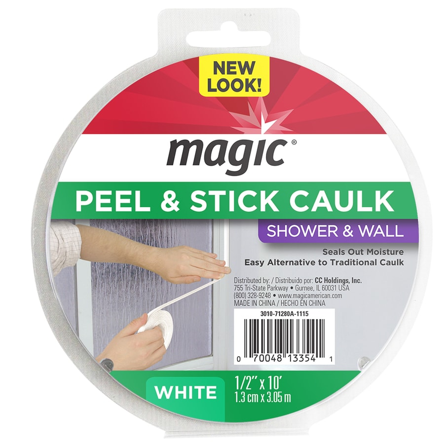 Shop Magic White Showers Caulk Strip at Lowes.com