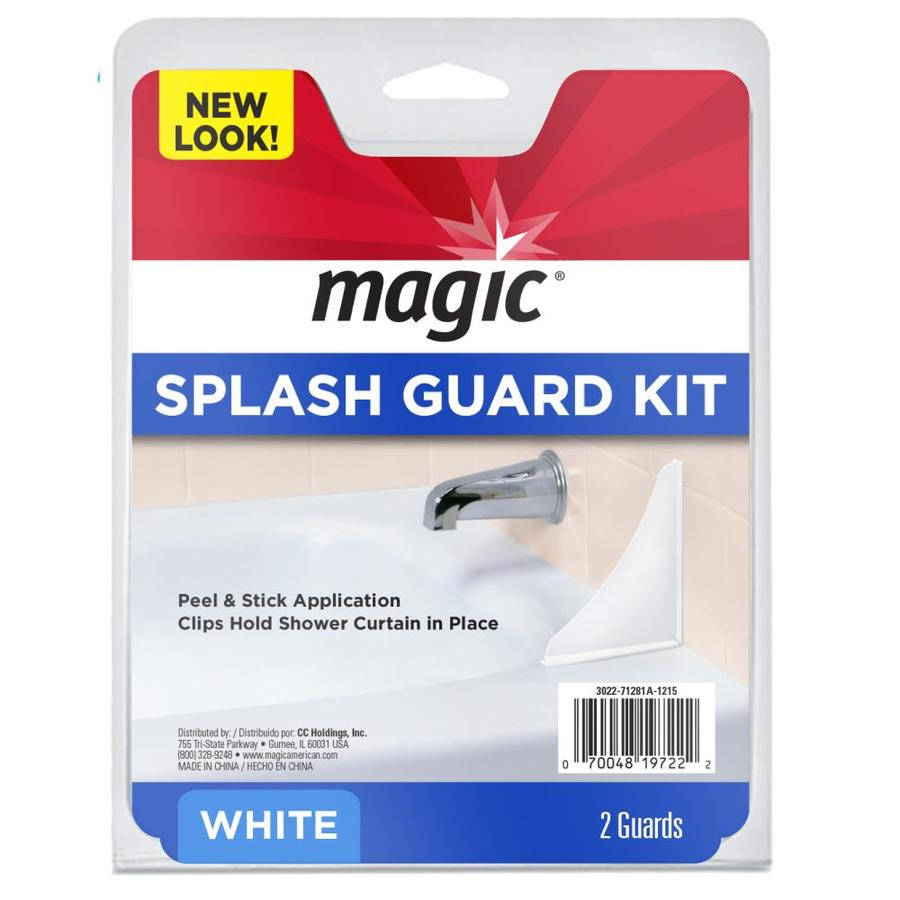 Magic 2-Pack White Splash Guards