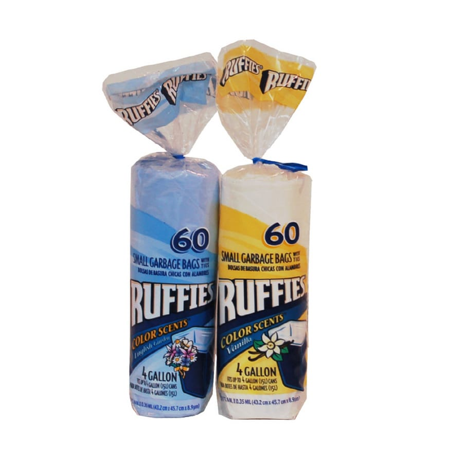 Ruffies 60 Count 4 Gallon Indoor Trash Bags