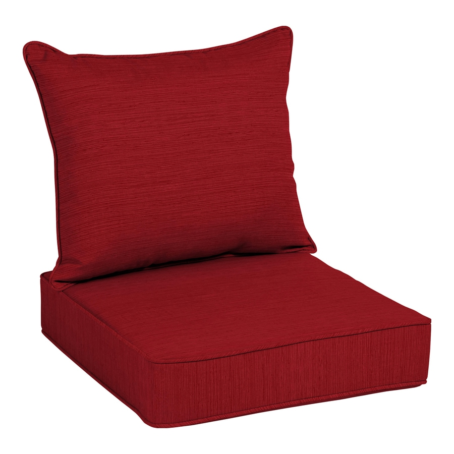 Allen + Roth 2 Piece Cherry Red Deep Seat Patio Chair Cushion
