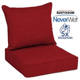 Allen + Roth Neverwet 2 Piece Cherry Red Deep Seat Patio Chair Cushion