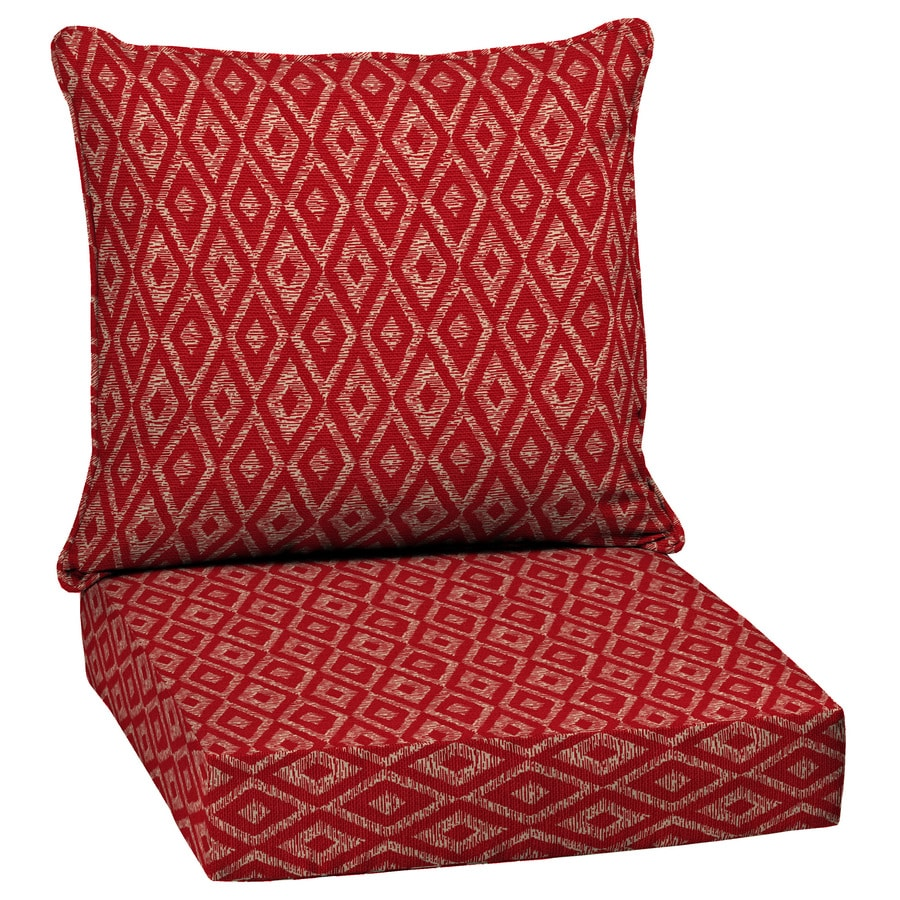 Shop garden treasures geometric deep seat patio chair for Garden furniture cushions
