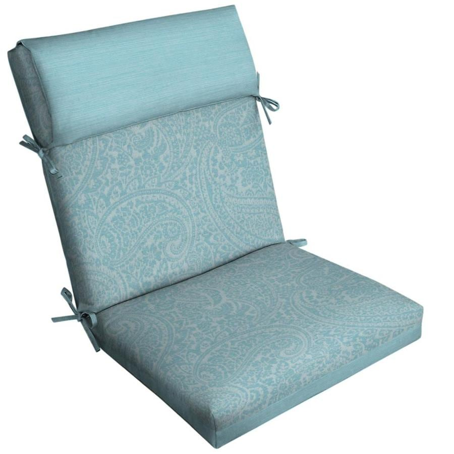 Allen + Roth Paisley High Back Patio Chair Cushion For High Back Chair
