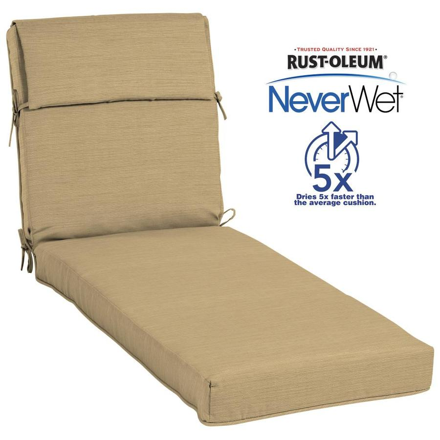 Allen Roth Neverwet 1 Piece Patio Chaise Lounge Chair Cushion