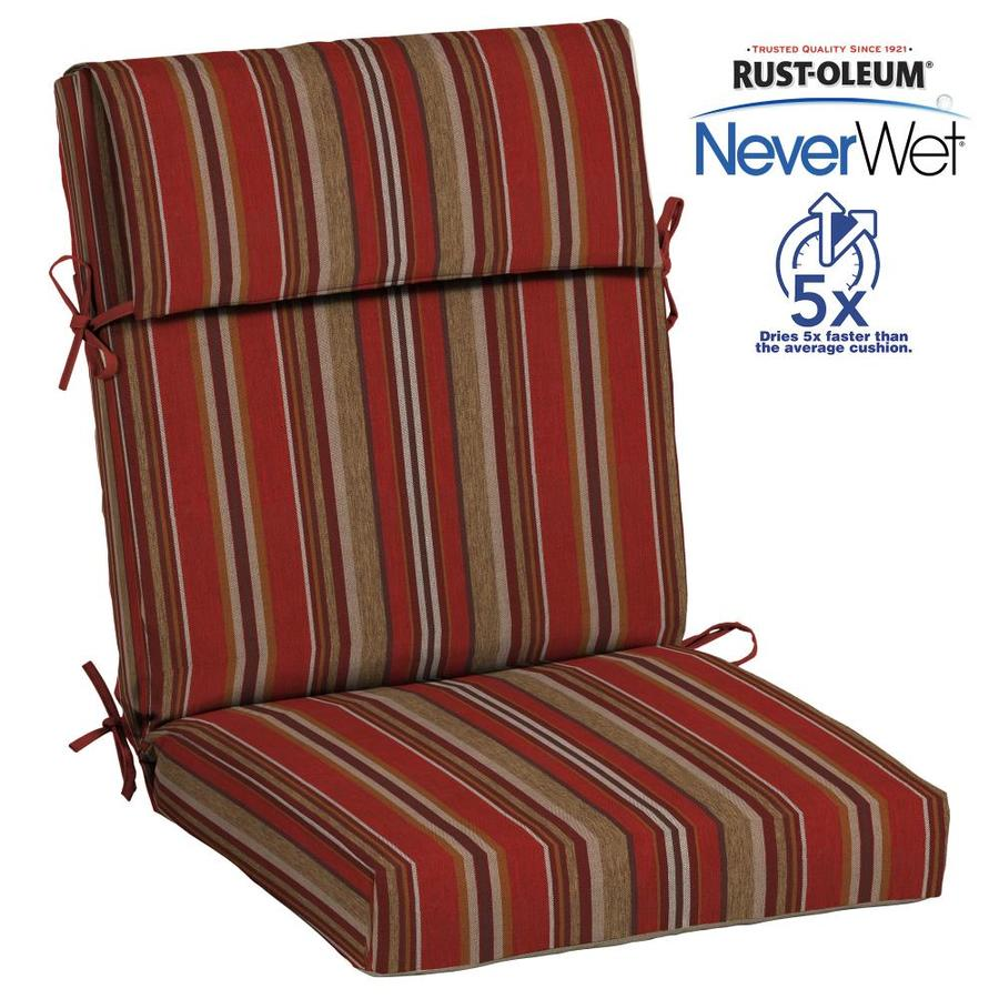 Shop allen roth neverwet 1 piece high back patio chair for Patio furniture cushions