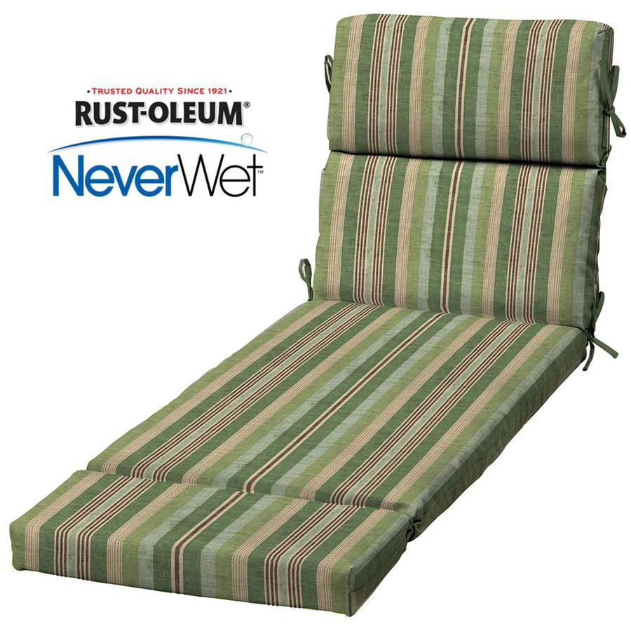 Shop allen roth stripe standard patio chair cushion for for Allen roth steel patio chaise lounge