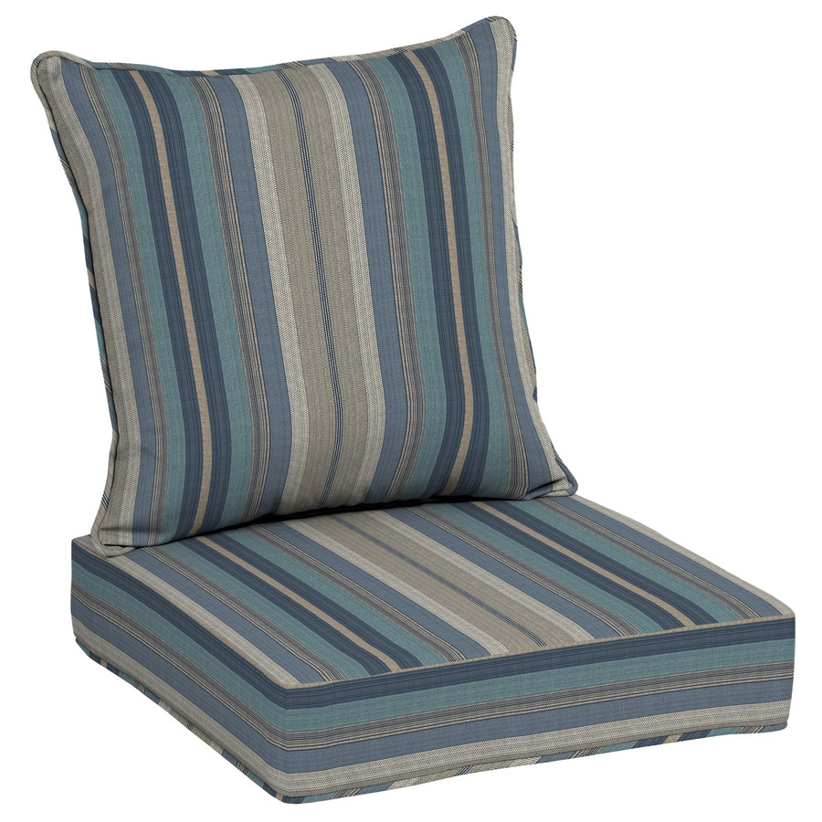 allen + roth Stripe Deep Seat Patio Chair Cushion for Deep Seat Chair