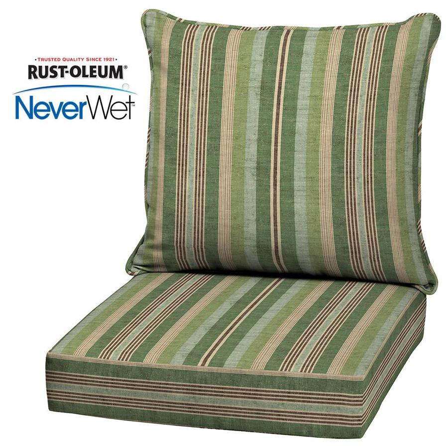 shop allen roth neverwet 2 piece stripe green deep seat patio chair cushion at. Black Bedroom Furniture Sets. Home Design Ideas
