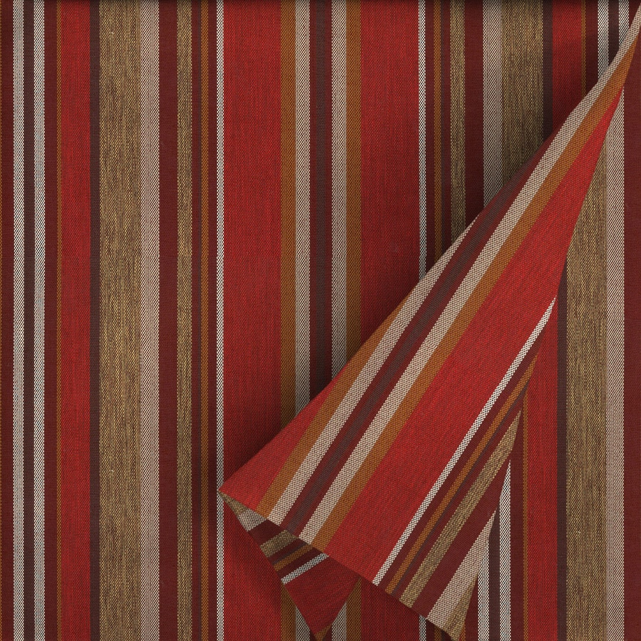 Discount outdoor fabric by the yard - Allen Roth 54 In W Priscilla Stripe Red Stripe Outdoor Fabric By