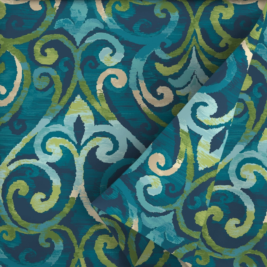 Etonnant Garden Treasures 54 In W Salito Marine Paisley Outdoor Fabric (By The