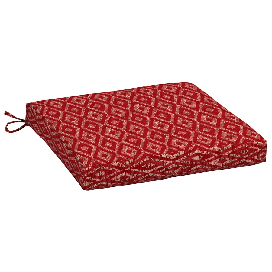 Garden Treasures Geometric Red Diamond Ruby Universal Seat Pad