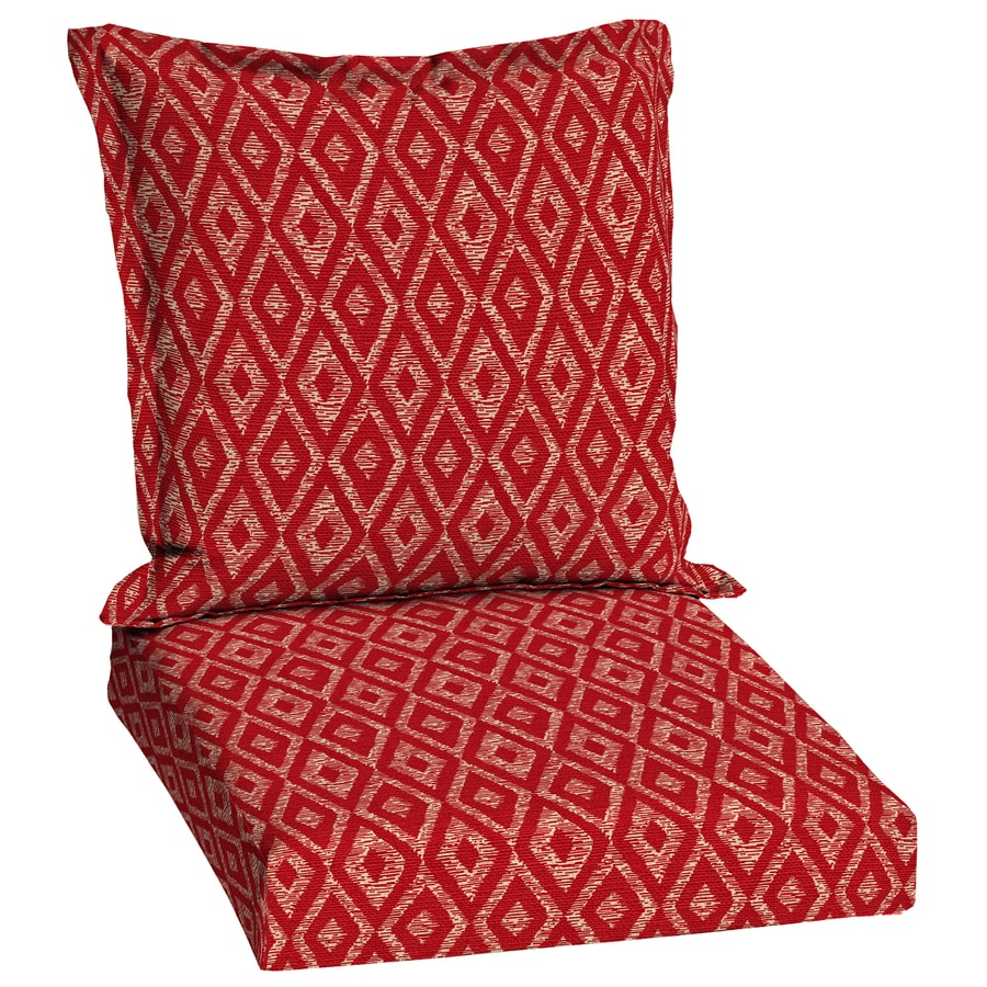 Garden treasures red diamond ruby geometric deep seat - Garden treasures replacement cushions ...
