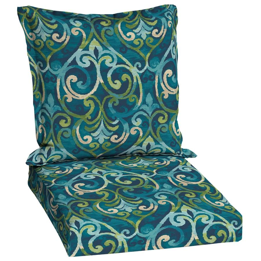 Garden Treasures Salito Marine Damask Deep Seat Patio Chair Cushion For Deep  Seat Chair
