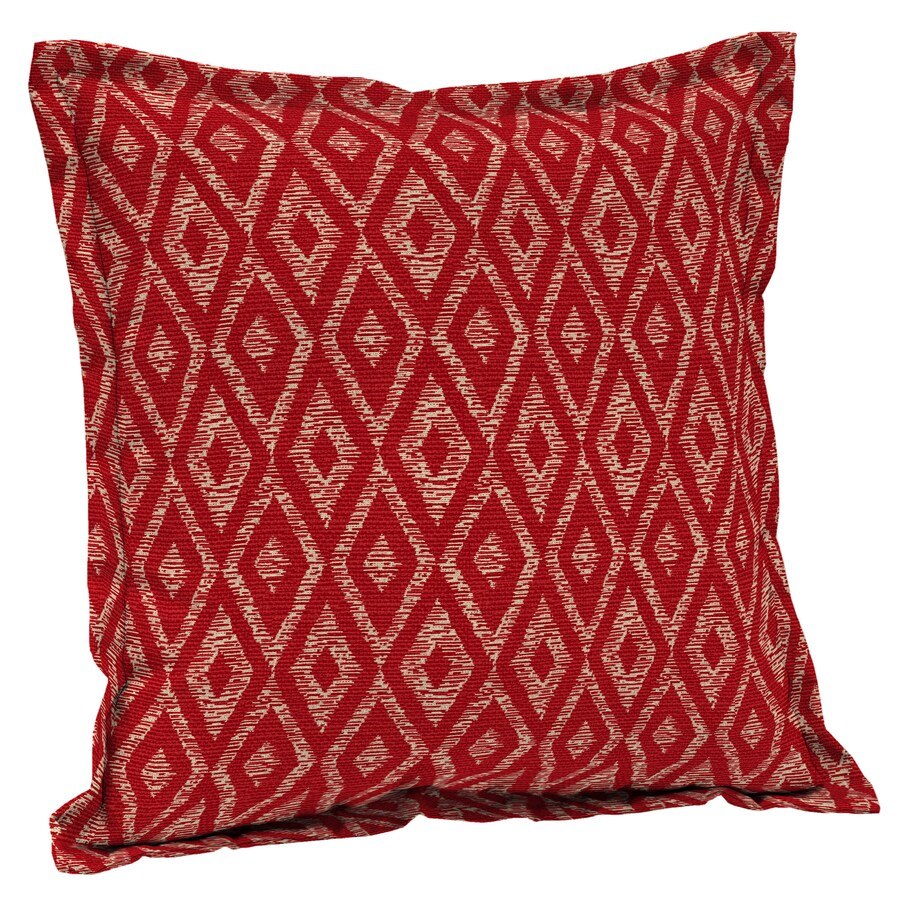 Throw Pillow Red : Shop Garden Treasures Red Diam Ruby Red Diam Ruby and Geometric Square Throw Pillow Outdoor ...