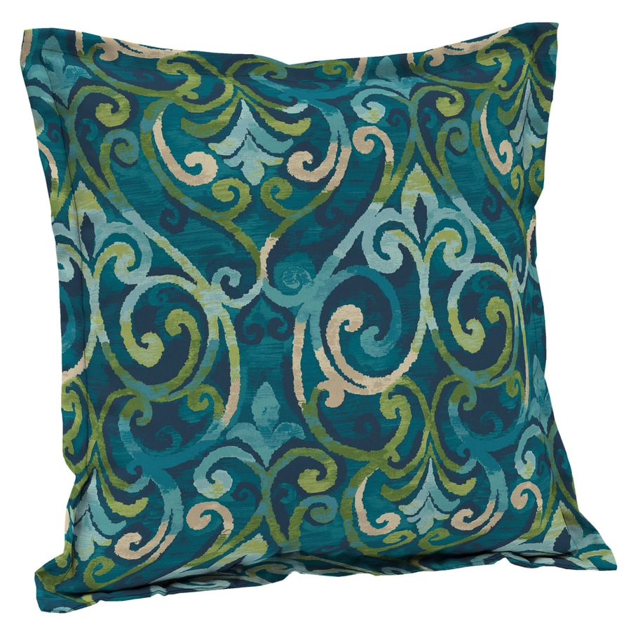 Shop Garden Treasures Salito Marine Salito Marine and Paisley Square Throw Pillow Outdoor ...