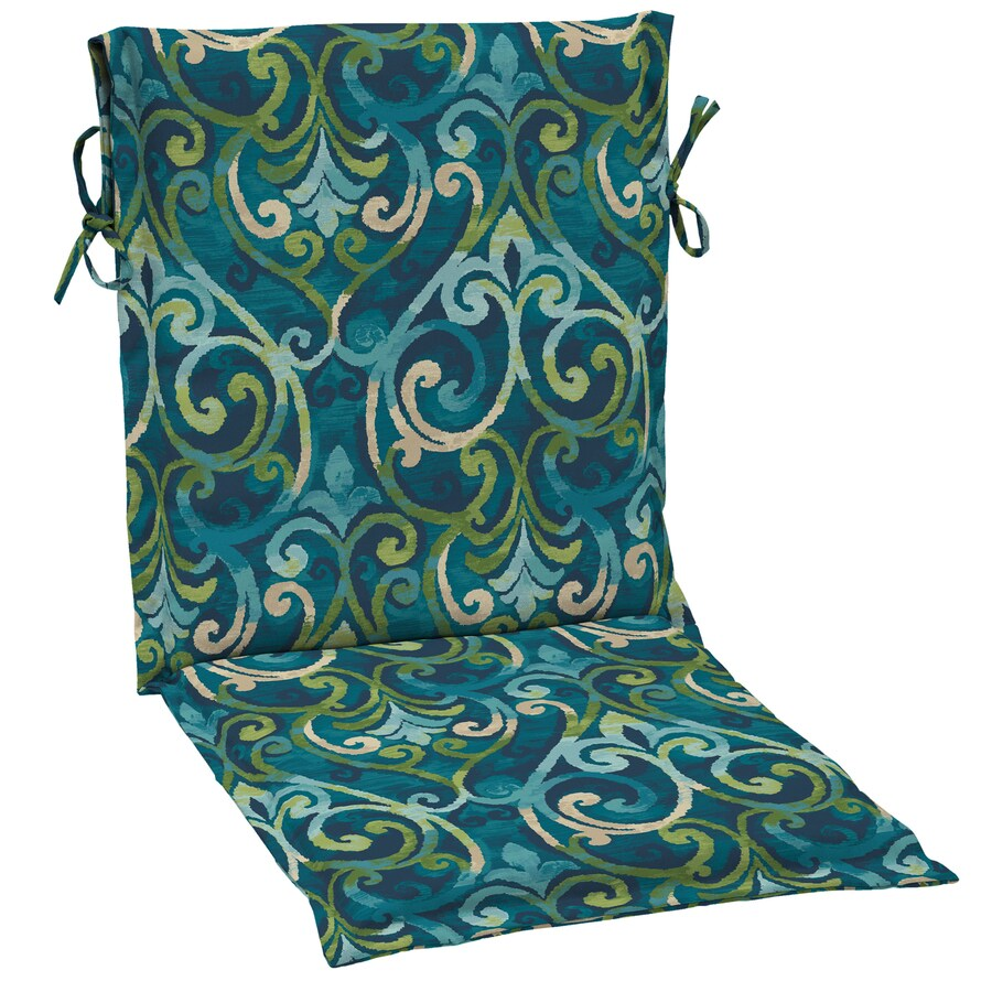 Garden Treasures Salito Marine Damask Standard Patio Chair Cushion for Sling Chair