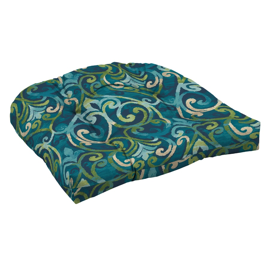 Garden treasures salito marine damask standard patio chair - Garden treasures replacement cushions ...