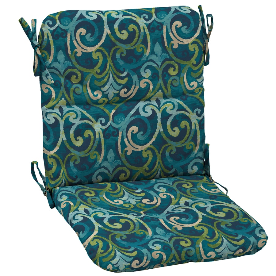 Garden Treasures Salito Marine Damask Standard Patio Chair Cushion