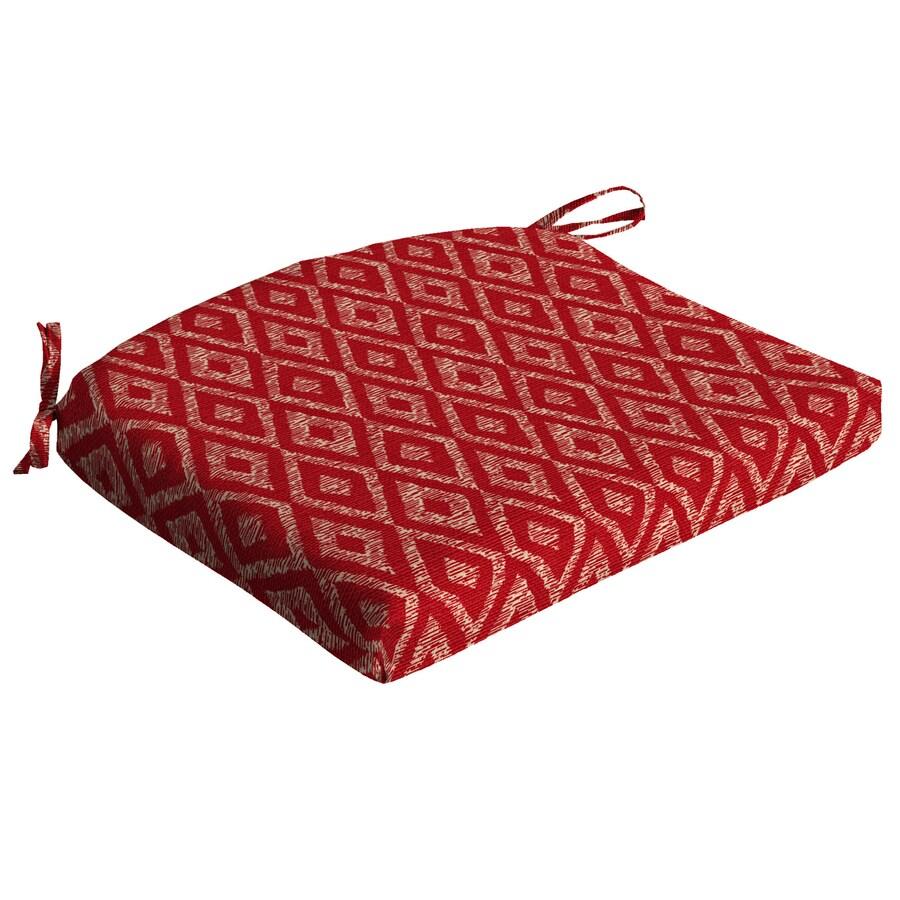 Garden Treasures Geometric Red Diamond Ruby Universal Seat Pad