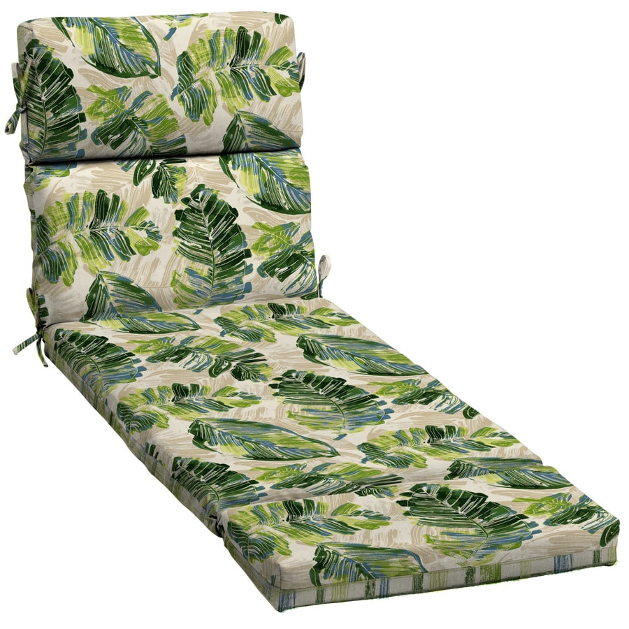 Garden treasures 1 piece palm leaf patio chaise lounge - Garden treasures replacement cushions ...