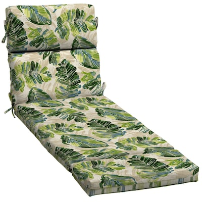 Amazing Palm Leaf And Plaid Patio Chaise Lounge Chair Cushion Machost Co Dining Chair Design Ideas Machostcouk