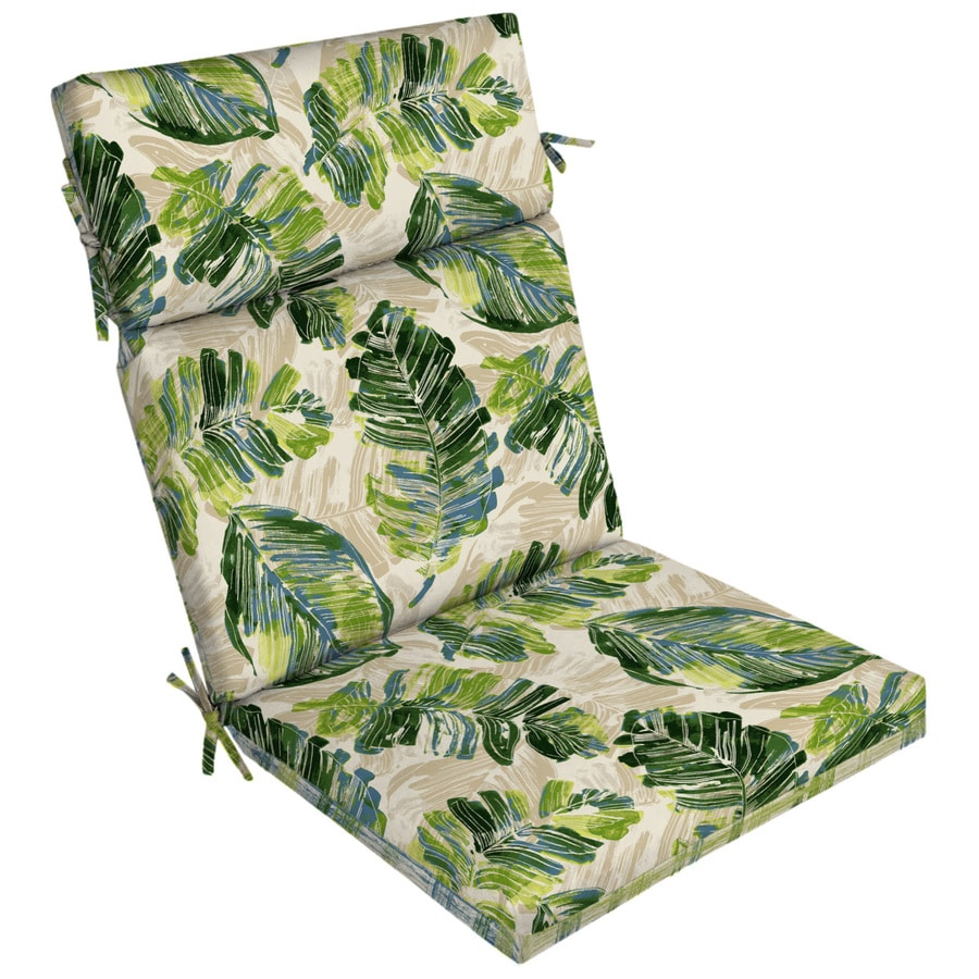 Garden Treasures 1 Piece Palm Leaf High Back Patio Chair Cushion