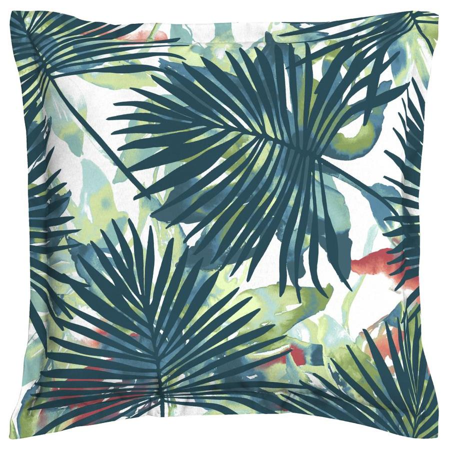 Excellent Shop allen + roth Palm Leaf Throw Pillow at Lowes.com RD17