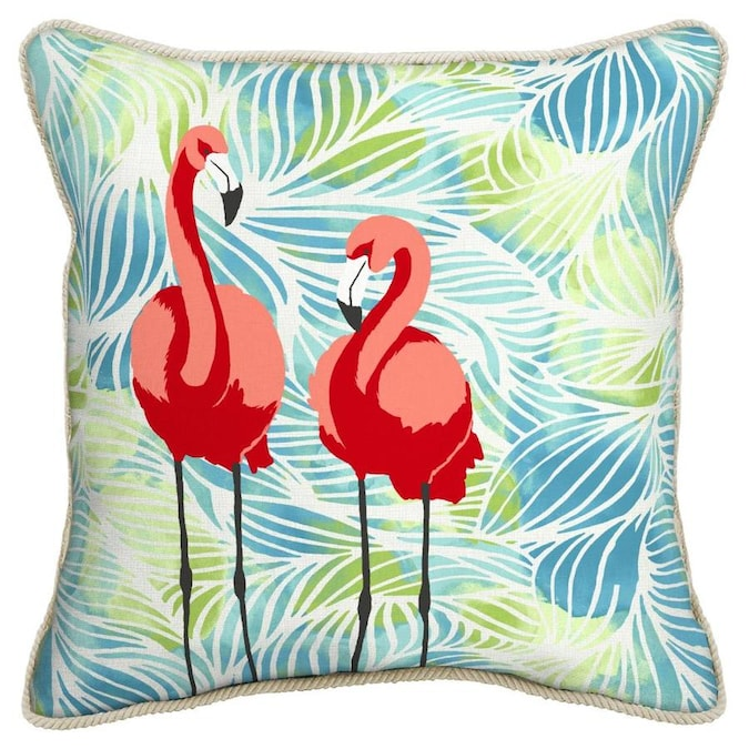 Allen Roth Flamingo Throw Pillow In The Outdoor Decorative Pillows Department At Lowes Com