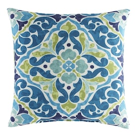 Tile Blue/Green Throw Pillow