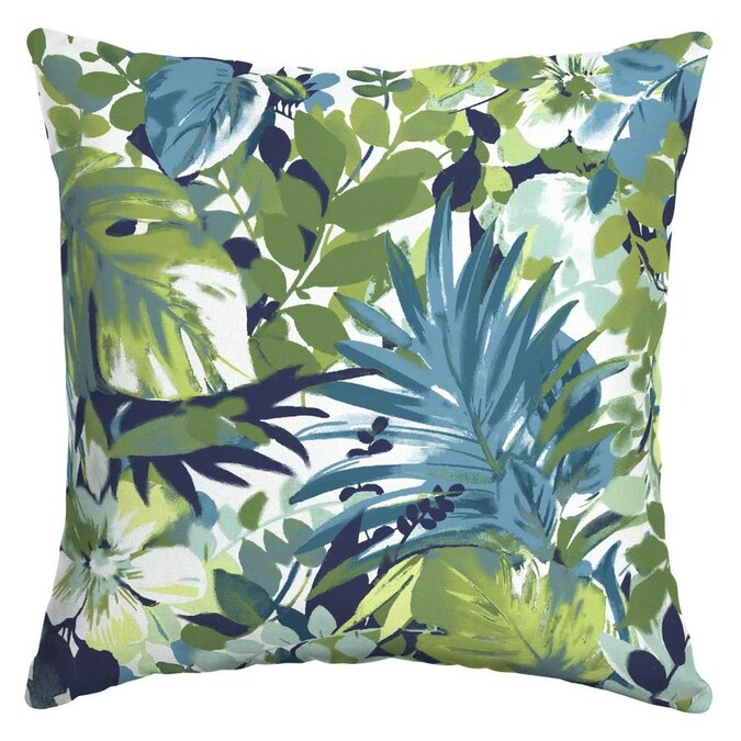 Floral Square Throw Pillow in the Outdoor Decorative Pillows