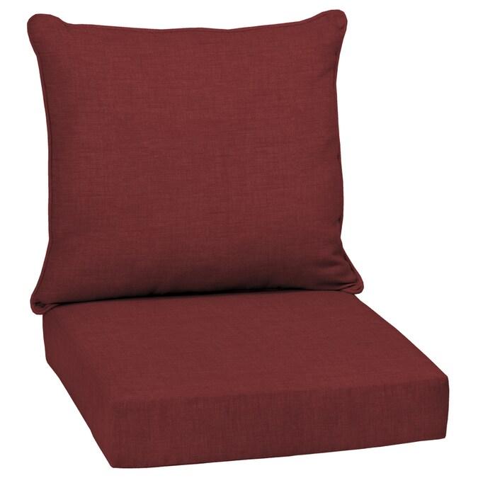 arden selections 2 piece ruby leala texture deep seat patio chair cushion