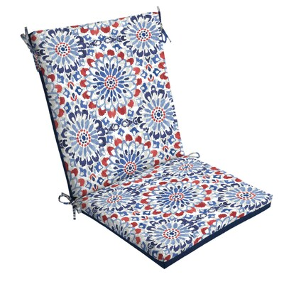 Brilliant Arden Selections Red White Blue Clark Patio Chair Cushion At Gmtry Best Dining Table And Chair Ideas Images Gmtryco