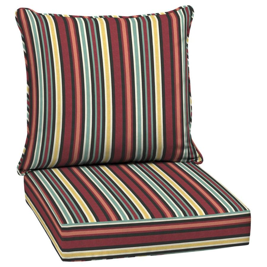 arden selections 2 piece ruby multi deep seat patio chair cushion at. Black Bedroom Furniture Sets. Home Design Ideas
