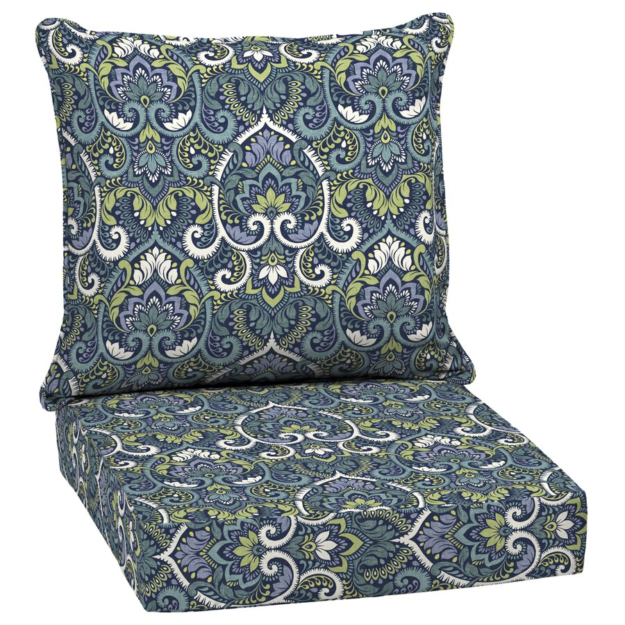 Arden Selections 2 Piece Sapphire Deep Seat Patio Chair Cushion At