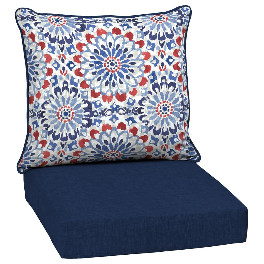 Arden Selections 2 Piece Red White Blue Clark Deep Seat Patio Chair Cushion