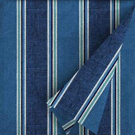 Allen Roth 54 In W Blue Coach Stripe Outdoor Fabric By The