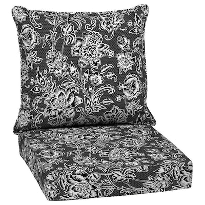 Weave Black And White Deep Seat