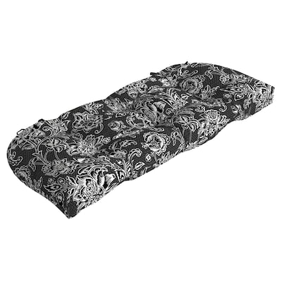 Fine Garden Treasures Black And White Jacobean Patio Bench Caraccident5 Cool Chair Designs And Ideas Caraccident5Info